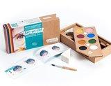 Namaki gecertificeerde biologische en hypo allergene maquillage kit (8 kleuren) rainbow_