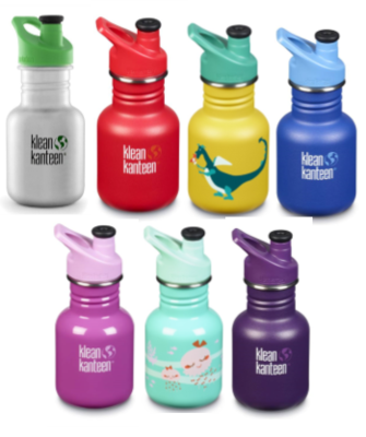 Klean Kanteen drinkfles Sippy sportcap RVS 355 ml