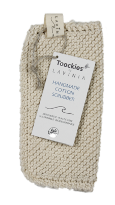 Toockies® scrubbers, biokatoen single schuurdoekje.