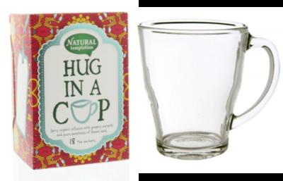 Natural Temptation biologische thee (Hug in a cup) met theeglas