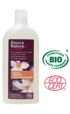 Douce Nature Biologische douchegel Frangipani bloem - 300ml