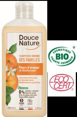Douce Nature Biologische douchegel & shampoo familie sinaasappel - 250 ml