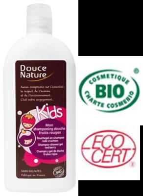 Douce Nature Biologische douche & shampoo kids rode vruchten 300 ml