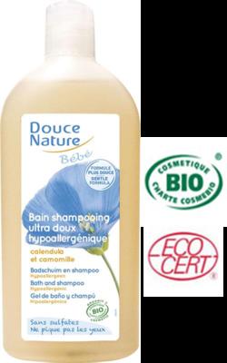 Douce Nature Biologische baby badschuim & shampoo 300.ml
