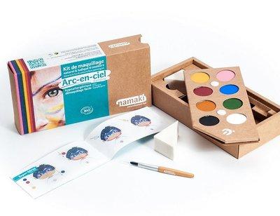 Namaki gecertificeerde biologische en hypo allergene maquillage kit (8 kleuren) rainbow