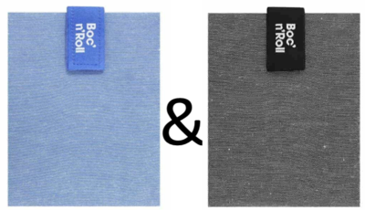 Roll'Eat Boc'n'Roll Foodwrap - Nature Blue en Black (zonder verpakking)