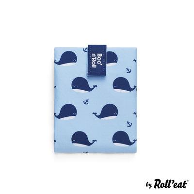 Roll'Eat Boc'n'Roll Foodwrap Herbruikbaar Boterhamzakje, Whale ( mist verpakking)
