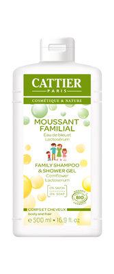 Cattier schuimende familie douchegel en shampoo