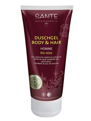 Sante Homme I aloe white tea douche (BDIH), vegan