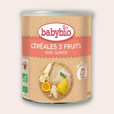 Babybio 3 Vruchtengranen  kind vanaf 6 maanden