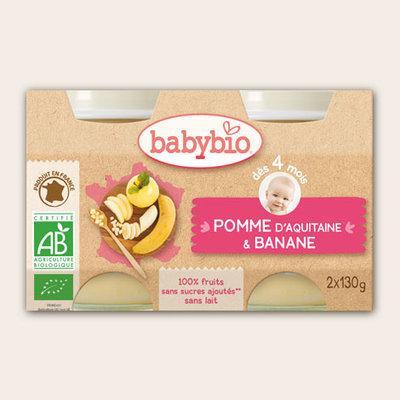 Babybio Dessert appel banaan kind 4 maanden