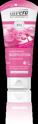 Lavera bodylotion pampering wild rose, vegan