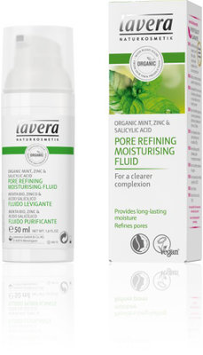 Lavera Moisturizing fluid pore refining organic mint, vegan