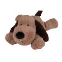 Warmte knuffel Hond donkerbruin Gary