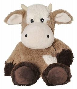 Warmte knuffel koe bruin
