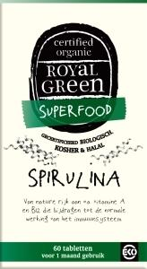 Royal Green, Spirulina, 100% gecertificeerd biologisch 60 tabletten