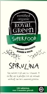 Royal Green, Spirulina, 100% gecertificeerd biologisch 120 tabletten