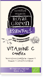 Royal Green Vitamine C complex, 100% gecertificeerd biologisch, vegan