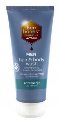 Bee Natural Hair & body wash men rozemarijn