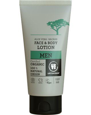 Urtekram Men gezicht en bodylotion, vegan