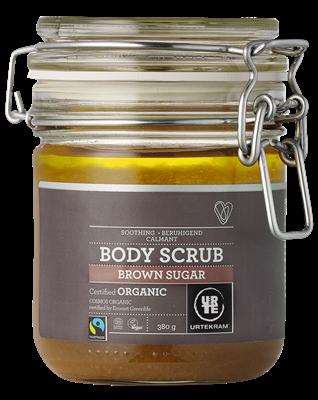Urtekram Body scrub brown sugar lavender eucalyptus, vegan