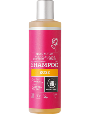 Urtekram Shampoo rozen normaal haar, 250 ml, vegan