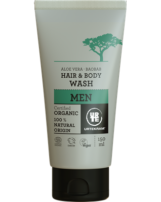 Urtekram Men haar en body wash, vegan