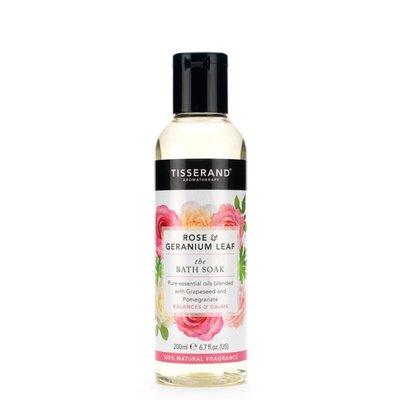 Tisserand, Bath soak rose geranium leaf