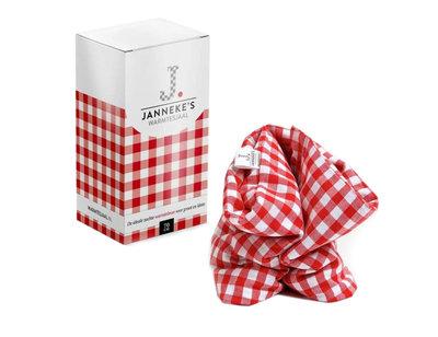 Jannekes warmtesjaal, Rood