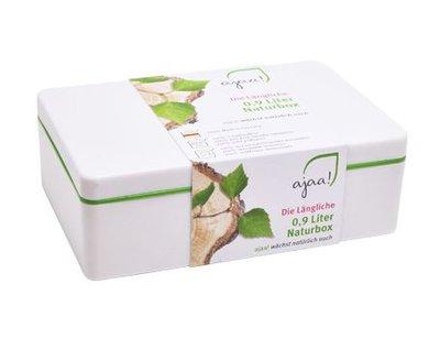Lunch box Natur lime, middel,  0,9 liter