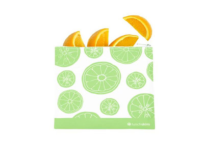 Lunchskin medium zip bag green fruit
