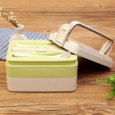 3 lagen eco friendly lunchbox, met bestek