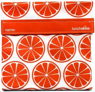 Lunchskins sandwich bag, Orange Tangerine