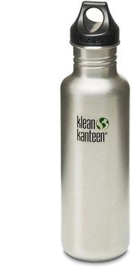 Klean Kanteen Classic Drinkfles met Loop Cap, 800 ml grijs