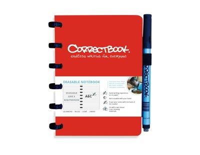 Correctbook - A6 - Gelijnd - Rood