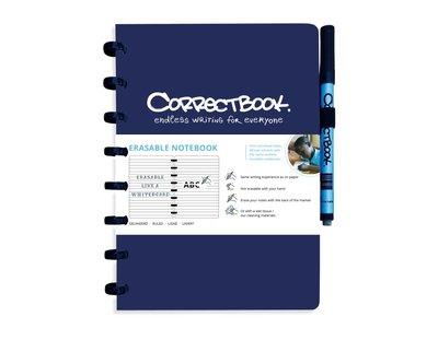 Correctbook Notitieboek A5 blauw- lijntjes