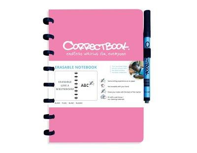 Correctbook Notitieboek A5 roze, blanco