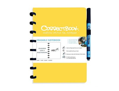 Correctbook Notitieboek A5 geel, blanco