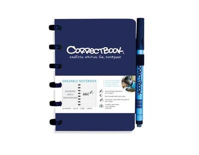 Correctbook A6 blauw- lijntjes