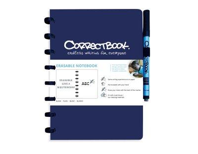 Correctbook Notitieboek A4 blauw, blanco