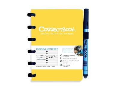 Correctbook A6 geel- lijntjes