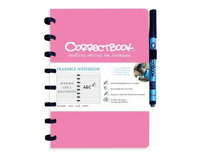 Correctbook Notitieboek A5 roze- lijntjes