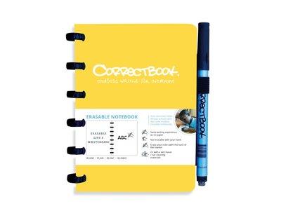 Correctbook A6 geel- blanco