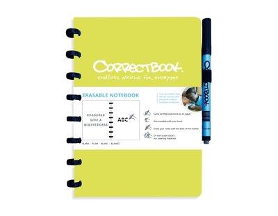 Correctbook Notitieboek A5 limoen groen, blanco
