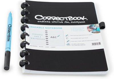 Correctbook A5 Black Blanco