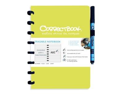 Correctbook Notitieboek A5 limoen groen, lijntjes