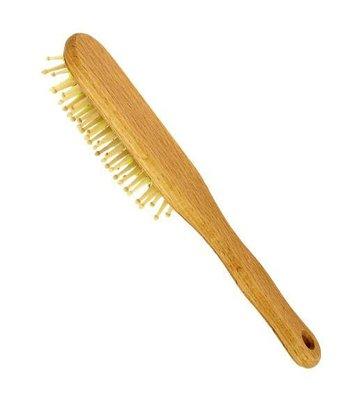 Haarborstel hout noppen beukenhout ovaal