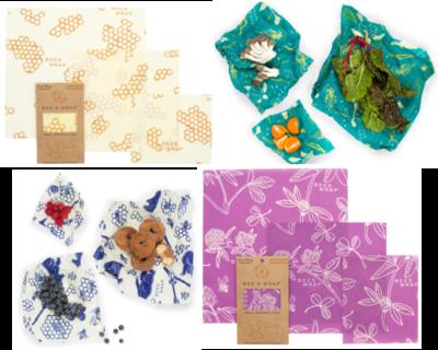 Bee's Wrap 3-pack combinatie (small/medium/large)