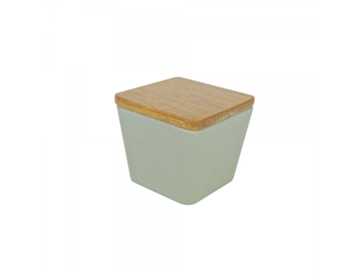 BAMBOO FLOWER CANDLE 2 IN 1 ROSEMARY'S SECRET