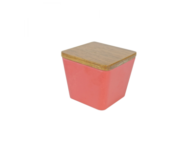 BAMBOO FLOWER CANDLE 2 IN 1 STRAWBERRY DIVINE